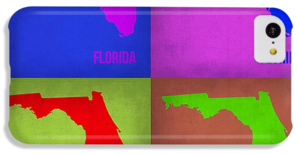 Miami iPhone 5c Case - Florida Pop Art Map 1 by Naxart Studio