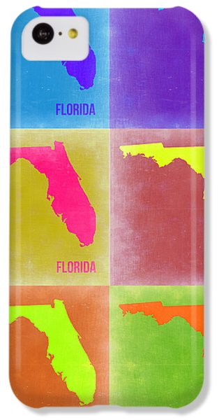 Miami iPhone 5c Case - Florida Pop Art Map 2 by Naxart Studio