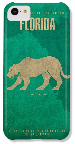 Florida State Facts Minimalist Movie Poster Art  IPhone 5c Case by Design Turnpike