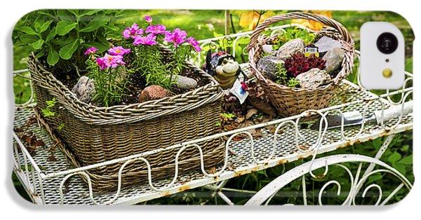 Garden iPhone 5c Case - Flower Cart In Garden by Elena Elisseeva