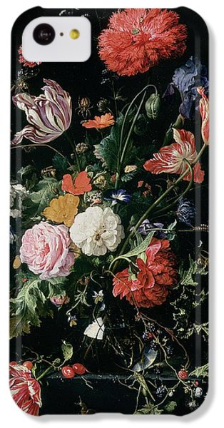 Grasshopper iPhone 5c Case - Flowers In A Glass Vase, Circa 1660 by Jan Davidsz de Heem