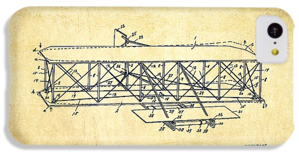 Flying Machine Patent Drawing From 1906 - Vintage IPhone 5c Case by Aged Pixel