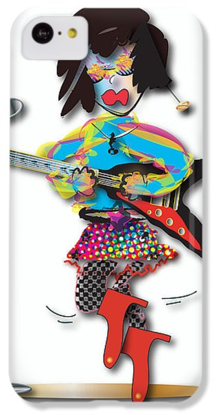 IPhone 5c Case featuring the digital art Flying V Girl by Marvin Blaine