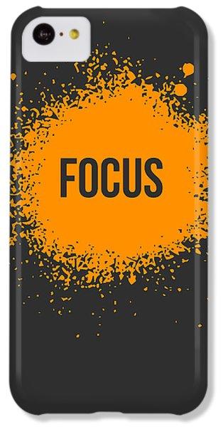 Orange iPhone 5c Case - Focus Splatter Poster 3 by Naxart Studio