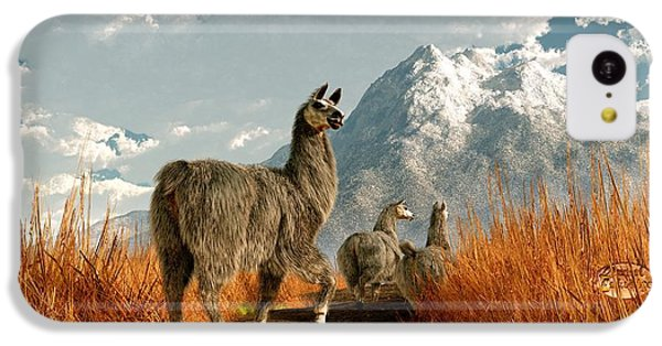 Follow The Llama IPhone 5c Case by Daniel Eskridge
