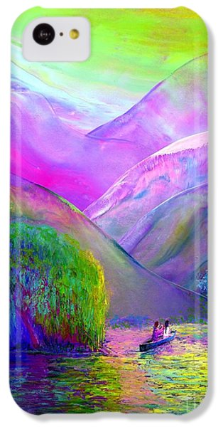 Figurative iPhone 5c Case -  Love Is Following The Flow Together by Jane Small
