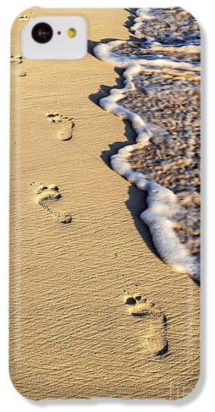Beach iPhone 5c Case - Footprints On Beach by Elena Elisseeva