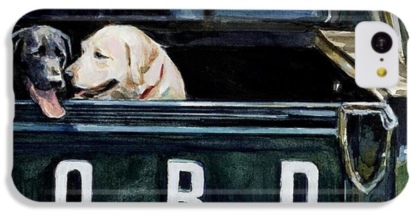 Truck iPhone 5c Case - For Our Retriever Dogs by Molly Poole