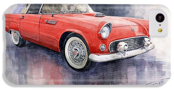 Ford Thunderbird 1955 Red IPhone 5c Case by Yuriy  Shevchuk