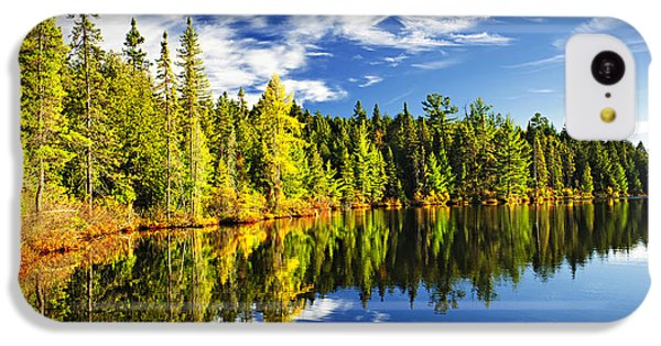 Landscape iPhone 5c Case - Forest Reflecting In Lake by Elena Elisseeva