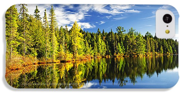 Landscapes iPhone 5c Case - Forest Reflecting In Lake by Elena Elisseeva