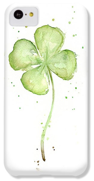 Four Leaf Clover Lucky Charm IPhone 5c Case by Olga Shvartsur