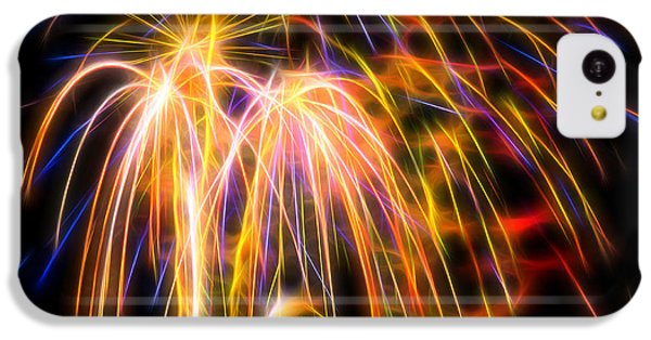 IPhone 5c Case featuring the photograph Colorful Fractal Fireworks #1 by Yulia Kazansky