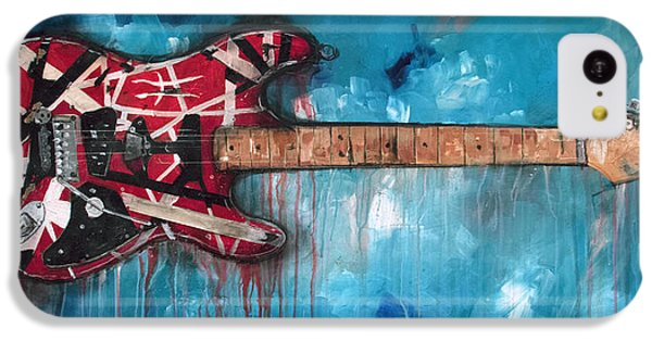 Eric Clapton iPhone 5c Case - Frankenstrat by Sean Parnell