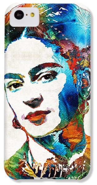 Portraits iPhone 5c Case - Frida Kahlo Art - Viva La Frida - By Sharon Cummings by Sharon Cummings