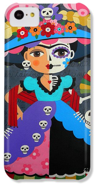 IPhone 5c Case Featuring The Painting Frida Kahlo La Catrina By LuLu Mypinkturtle