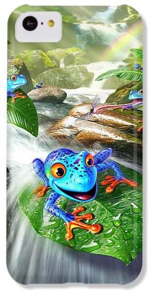 Frogs iPhone 5c Case - Frog Capades by Jerry LoFaro