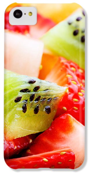 Orange iPhone 5c Case - Fruit Salad Macro by Johan Swanepoel