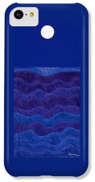 iPhone 5c Case - Full Moonscape II by Synthia SAINT JAMES