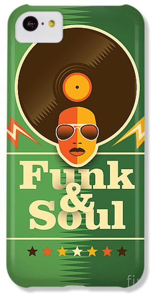 Sound iPhone 5c Case - Funk And Soul Poster. Vector by Radoman Durkovic