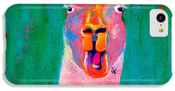 Funky Llama Art Print IPhone 5c Case