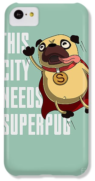 T Shirts iPhone 5c Case - Funny Cartoon Character Pug Design For by Just draw