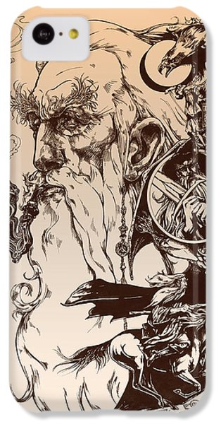 Wizard iPhone 5c Case - gandalf- Tolkien appreciation by Derrick Higgins