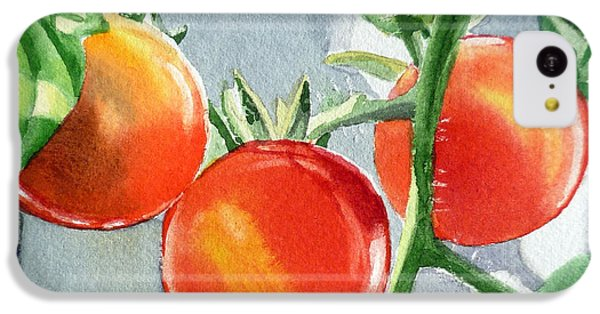 Garden Cherry Tomatoes  IPhone 5c Case by Irina Sztukowski