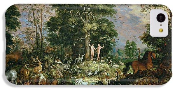 Ostrich iPhone 5c Case - Garden Of Eden by Roelandt Jacobsz Savery