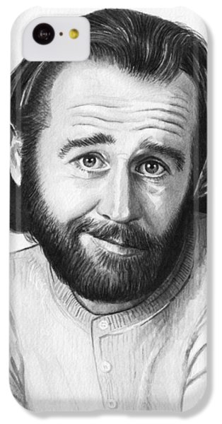 George Carlin Portrait IPhone 5c Case by Olga Shvartsur