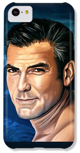 Robin iPhone 5c Case - George Clooney 2 by Paul Meijering