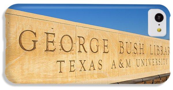 George Bush iPhone 5c Case - George H. Bush Library, Texas by Bill Bachmann