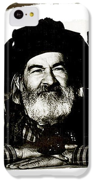 Johnny Carson iPhone 5c Case - George Hayes Portrait #1 Card by David Lee Guss