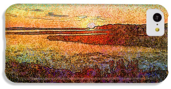 Georgian Bay Sunset IPhone 5c Case by Claire Bull