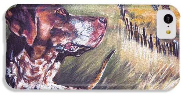 Pheasant iPhone 5c Case - German Shorthaired Pointer And Pheasants by Lee Ann Shepard
