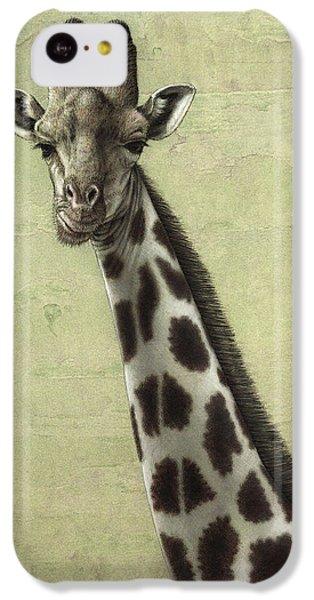 Giraffe IPhone 5c Case by James W Johnson
