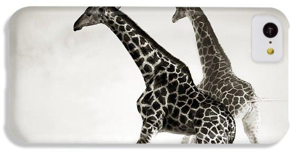 Giraffes Fleeing IPhone 5c Case by Johan Swanepoel