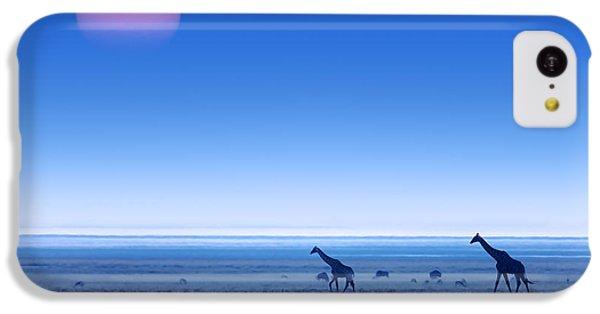 Giraffes On Salt Pans Of Etosha IPhone 5c Case by Johan Swanepoel