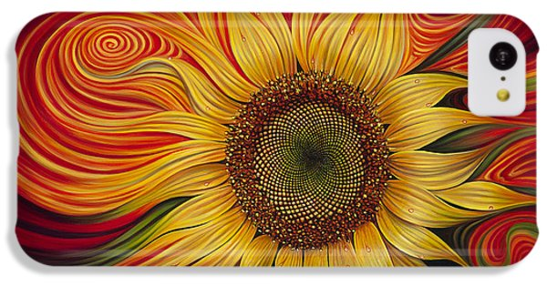 Sunflower iPhone 5c Case - Girasol Dinamico by Ricardo Chavez-Mendez