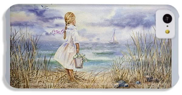 Pelican iPhone 5c Case - Girl At The Ocean by Irina Sztukowski