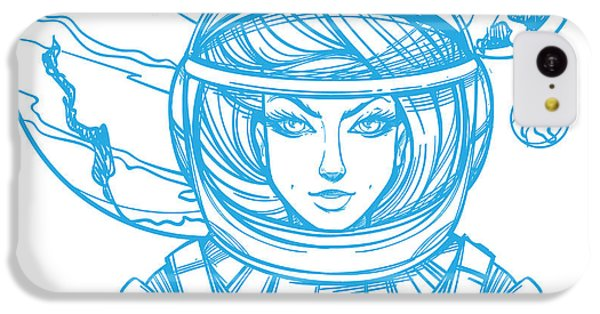 T Shirts iPhone 5c Case - Girl In A Spacesuit For T-shirt Design by Filkusto