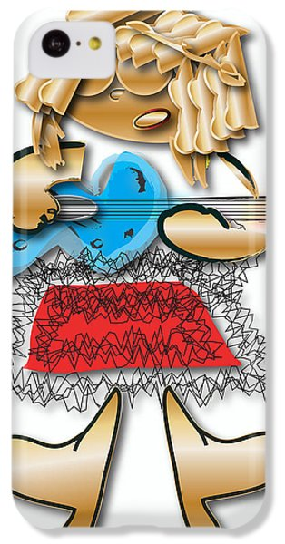 IPhone 5c Case featuring the digital art Girl Rocker 6 String Guitar by Marvin Blaine
