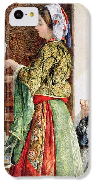 Girl With Two Caged Doves, Cairo, 1864 IPhone 5c Case by John Frederick Lewis