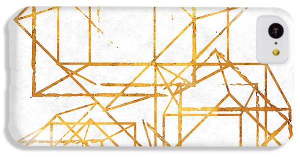 Pattern iPhone 5c Case - Gold Cubed I by South Social Studio