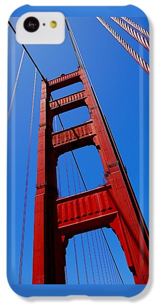 Golden Gate Tower IPhone 5c Case by Rona Black