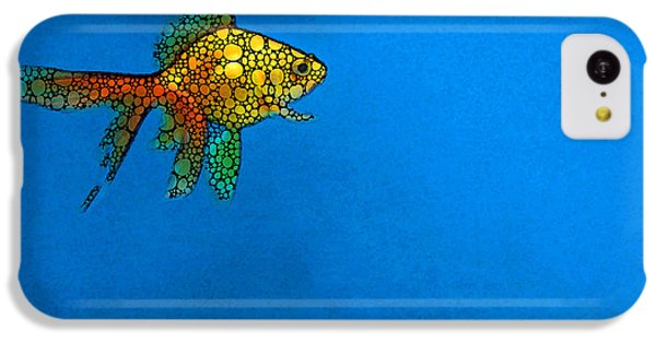Goldfish Study 4 - Stone Rock'd Art By Sharon Cummings IPhone 5c Case by Sharon Cummings
