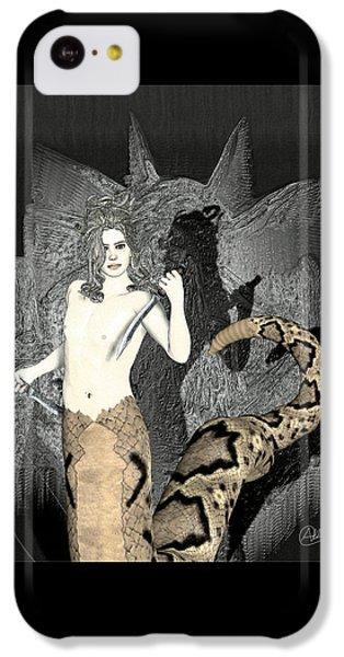 Gorgon iPhone 5c Case - Male Medusa  by Quim Abella