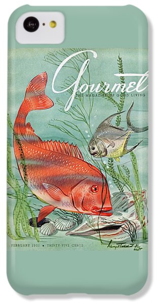 Gourmet Cover Featuring A Snapper And Pompano IPhone 5c Case by Henry Stahlhut