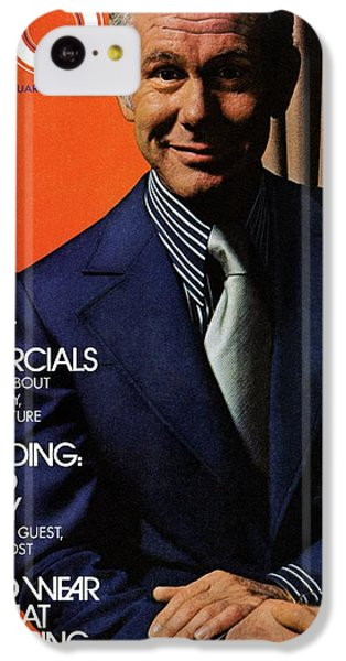 Gq Cover Of Johnny Carson Wearing Suit IPhone 5c Case by Bruce Bacon