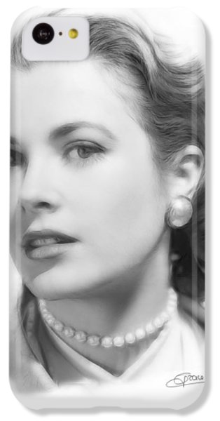 Grace Kelly iPhone 5c Case - Grace Kelly Pencil by Steve K